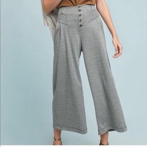 Anthropologie Houndstooth Wide Leg Pants